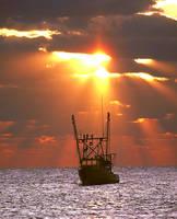 Fishing Boat Sunrise by Joe Gemignani