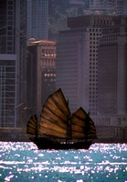Chinese Junk in Hong Harbor by Joe Gemignani