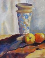 Vase and Peaches