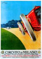 Circvito Di Milano Italy Car Race 1922 Advertiseme