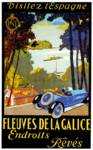 Fleuves De La Galice ~ Spain Vintage Car Advertise Posters