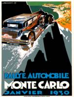 Monte Carlo Rally Automobile Race 1930 Advertiseme