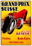 Swiss Grand Prix ~ Vintage Auto / Car Race Ad Posters