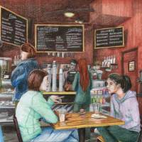 Kaldi's in St. Louis Art Prints & Posters by Lauren Chesis