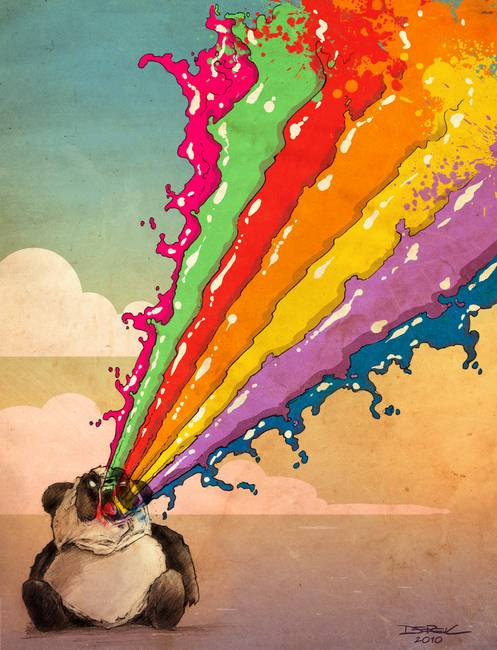 Perturbed Rainbow Vomiting Panda