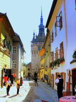 Transylvania Medieval Sighisoara In The Morning