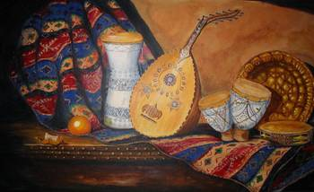 'Still Life with Arabian Oud' by Yvonne Ayoub