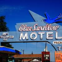 Route 66 - Blue Swallow Motel 2008 Art Prints & Posters by Frank Romeo