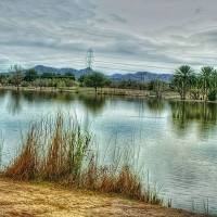 Lake Reflection - HDR Art Prints & Posters by Marla Wilkes