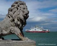 The isle of wight lions at cowes,passed by ferry.