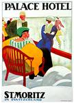 St. Moritz In Switzerland Vintage 1922 Posters