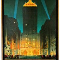 """""""Vintage New York Central Building 1930"""" by Johnny-Bismark"""