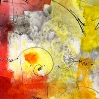 Intuitive Abstract 02 Version A by Ginette