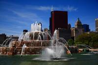 Chicago Skyline and Buckingham Fountain 2010 #5