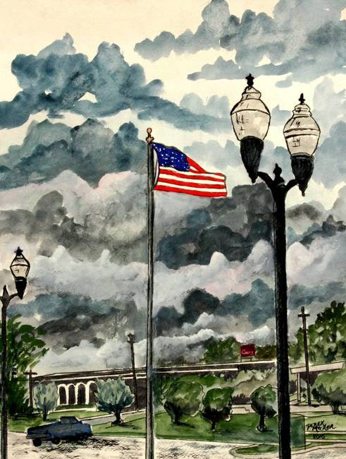 Opelika (AL) United States  city pictures gallery : Opelika Alabama American Flag by Derek McCrea in ArtbyDerekMcCrea on ...