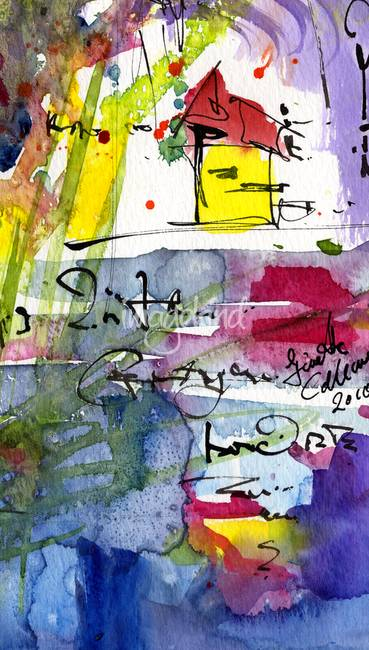 Intuitive Abstract 05 A Watercolor by Ginette