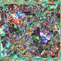 Meditation Garden Mosaic Art Prints & Posters by Lynda Coker