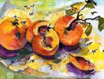 Peaches & Bees Painting by Ginette Callaway Posters