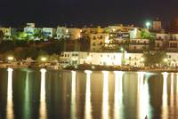 Makry-Gialos Harbour at Night