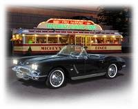 1962 Corvette and Mickey's Diner