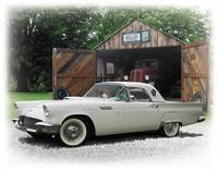 1957 White Thunderbird