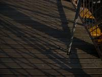 Shadows of Brooklyn Bridge