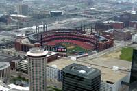 Busch Stadium as seen from the Arch