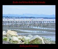 Rocks And White Rock Pier Canada