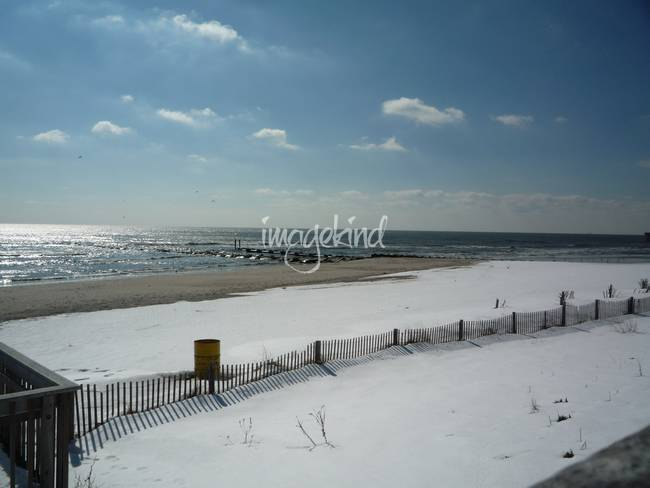 Snow Covered Beach The Jersey S By