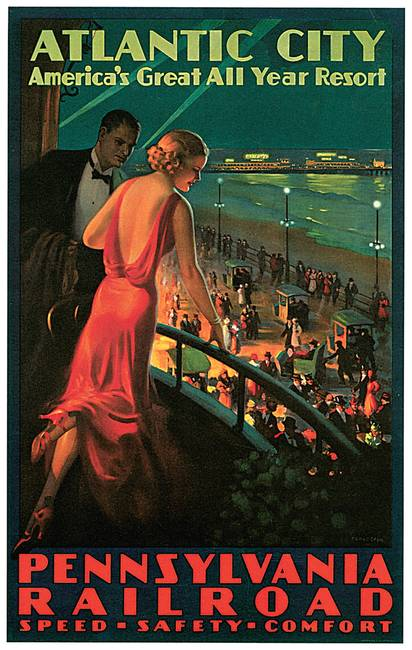 Atlantic City / Pennsylvania Railroad Vintage Trav