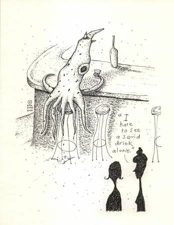 A Squid Goes Into A Bar...