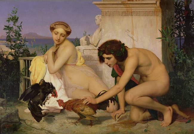 Encouraging Cocks to Fight by Jean Leon Gerome