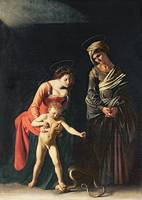 Madonna and Child with a Serpent by Caravaggio