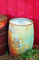 Funky Old Rain Barrel