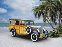 1933 Ford Woodie on Beach