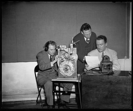 Making a Will on a Steel Record, 1937