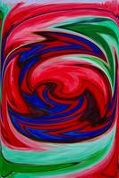 Red Green Blue Whirl of Color