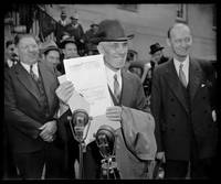 """Dr. Francis Townsend """"old age pensioner"""" w Pardon by WorldWide Archive"""