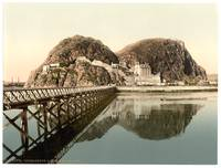 Dumbarton, Castle from pier, Scotland