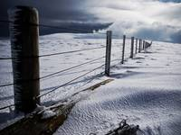 Scottish borders snowscape