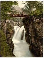 Fort William, Lower fall, Glen Nevis, Scotland