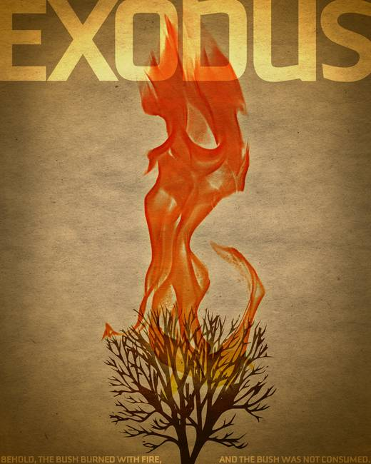 Word: Exodus Bible Poster
