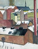 Church of St Mary in Bonn in Snow by August Macke