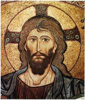 Byzantine mosaic of Christ Portrait,12th century