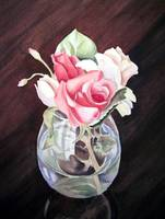 Rose in the Glass Vase