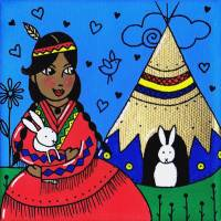 Ehawee and the rabbits Art Prints & Posters by Melanie Plouffe