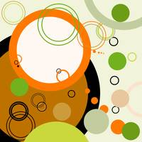 Abstract retro background with circles