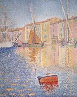 The Red Buoy, Saint Tropez by Paul Signac