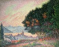 Forest near St. Tropez by Paul Signac
