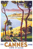 Cannes Travel Poster